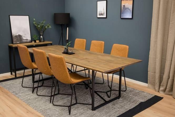 Matgrupp Penbryn bord och 6 st Cross stolar
