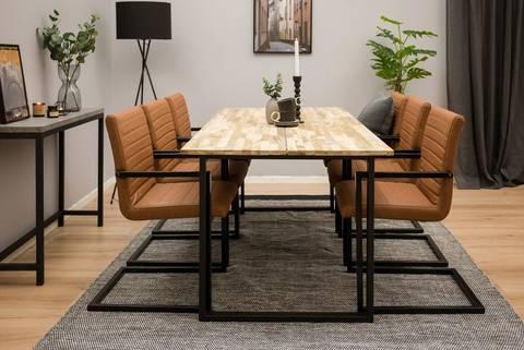 Matgrupp Chigwell bord och 6 Artic stolar
