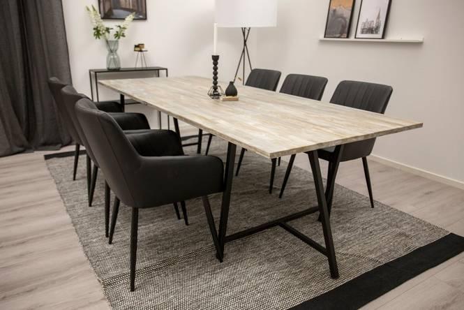 Matgrupp Jean bord och 6 st Croft stolar