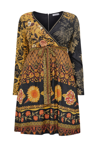 Printed Suede Dress -mekko