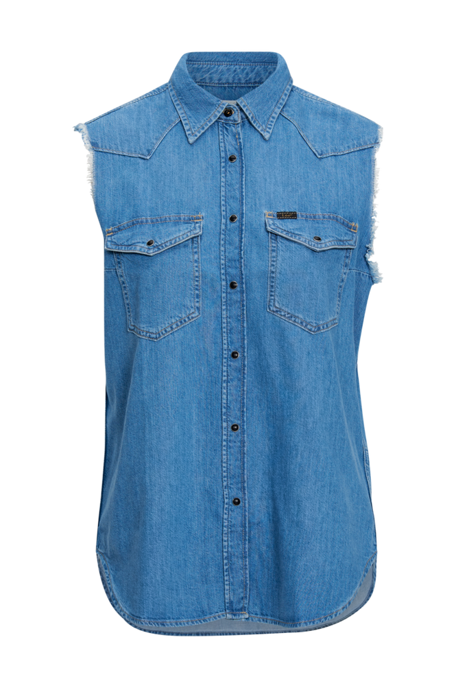 Lee Skjorte Cut Off Western Shirt