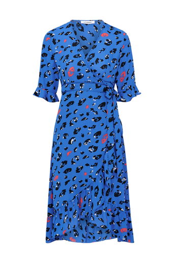 Wild Animal Wrap Dress -kietaisumekko