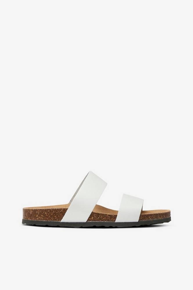 Bianco Sandal Twin Strap Slip In