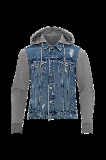 OnsCoin Hood Trucker Blue farkkutakki