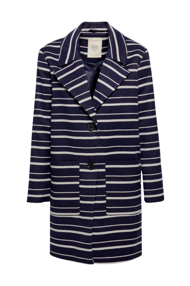 Esprit Frakke Striped Coat