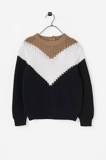 Mini Block Knitted Sweater -neulepusero