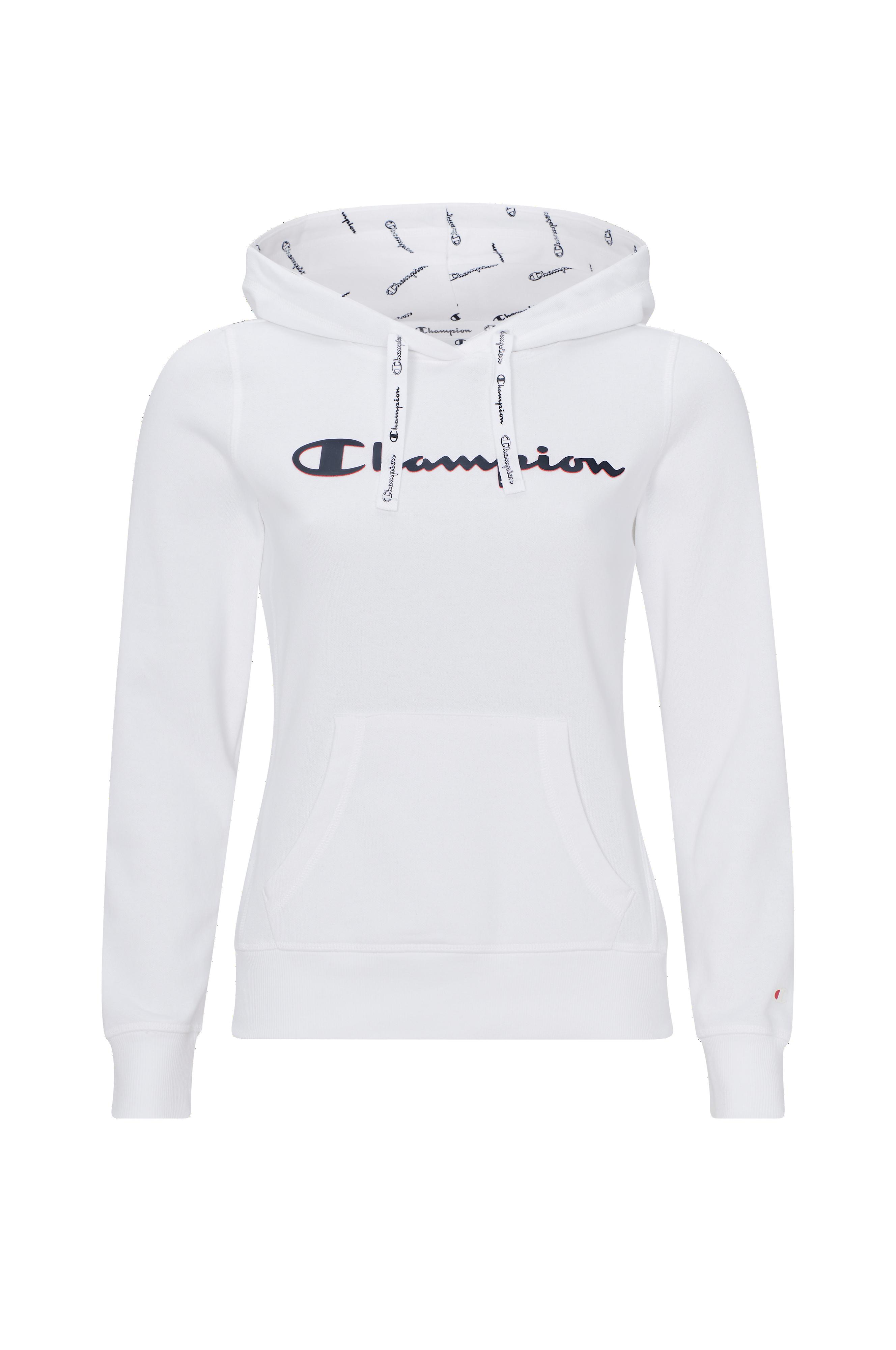 beställa butik försäljning plockade upp Champion Huvtröja Hooded Sweatshirt - Vit - Dam - Ellos.se