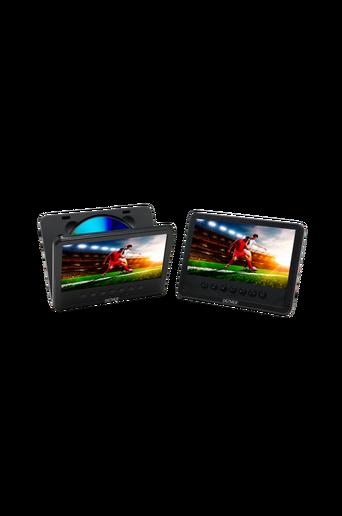 """7"""" LCD-näyttö, jossa sisäänrakennettu DVD-soitin"""