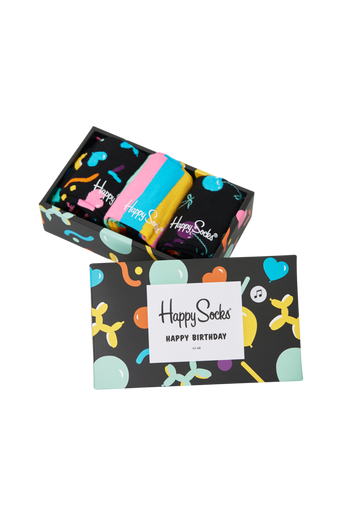 Lahjapakkaus Balloon Animal Birthday Gift Box, 3 paria sukkia