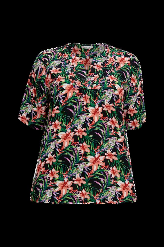 Gozzip Bluse med tropisk mønster