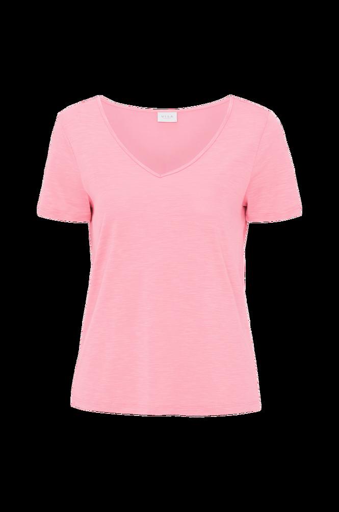 Vila Top viNoel S/S V-neck T-shirt Fav