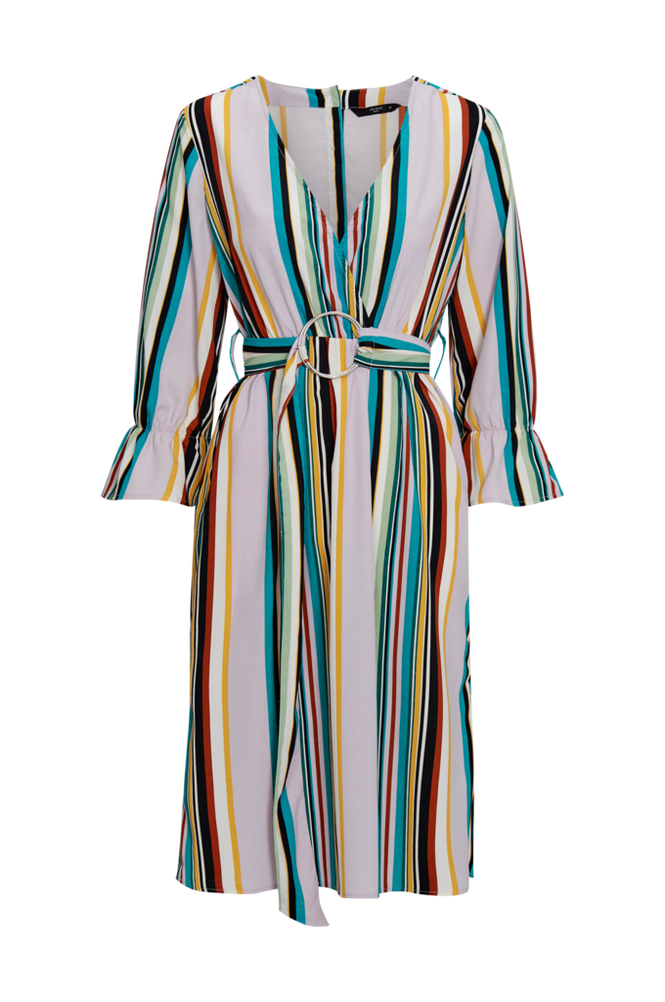 Only Kjole onqBlair 3/4 Stripe Midi Dress