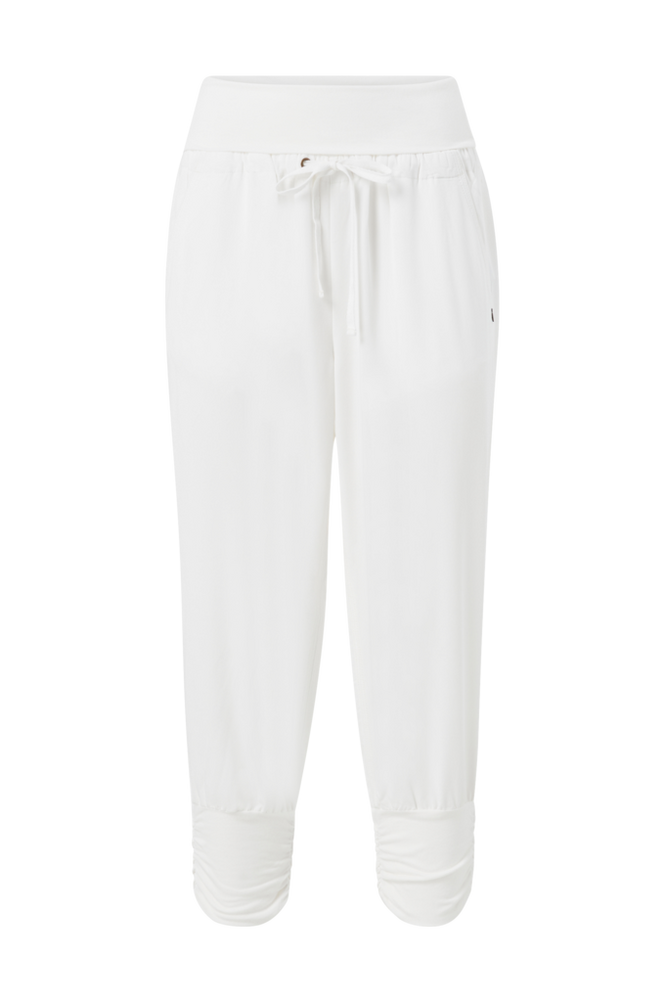 Cream Bukser Line Pants