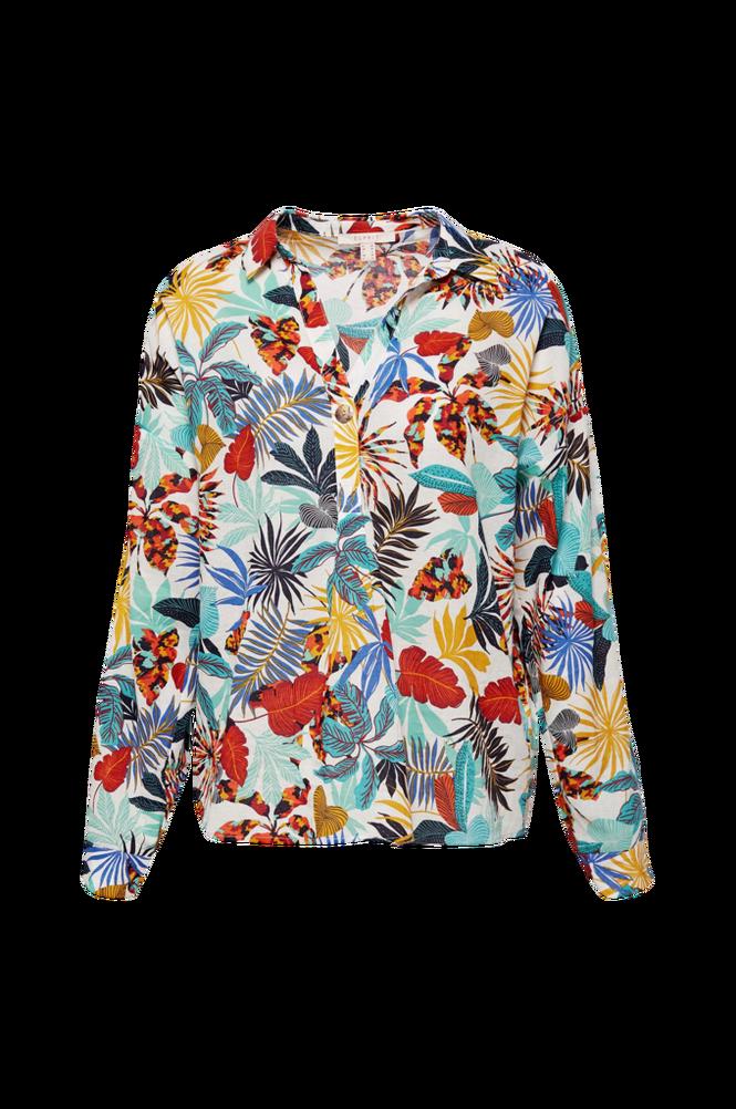 Esprit Bluse med ærme der kan foldes op