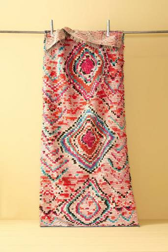 Boucherouite-matto 104x251 cm