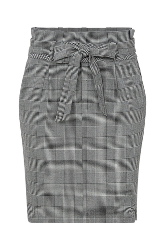 Hame vmEva HR Paperbag Short Check Skirt