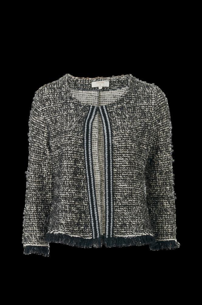 Cream Blazer Nandy Tweed Jacket