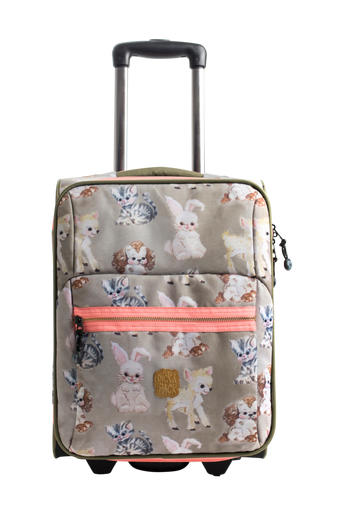 Trolley Cute animals taupe