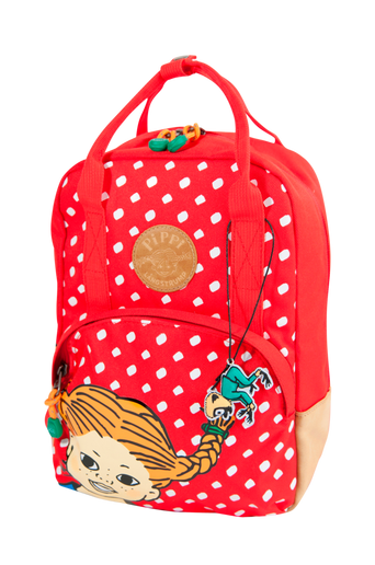 Retro backpack small red dot