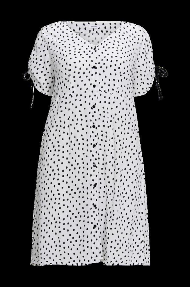 La Redoute Lige, prikket kjole i midilængde med lukning