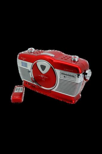Retro CD Radio Punainen