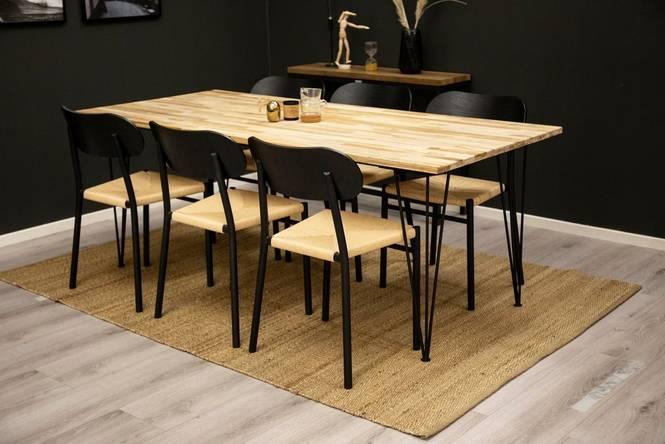 Matgrupp Brentwood bord och 6 st Polly stolar