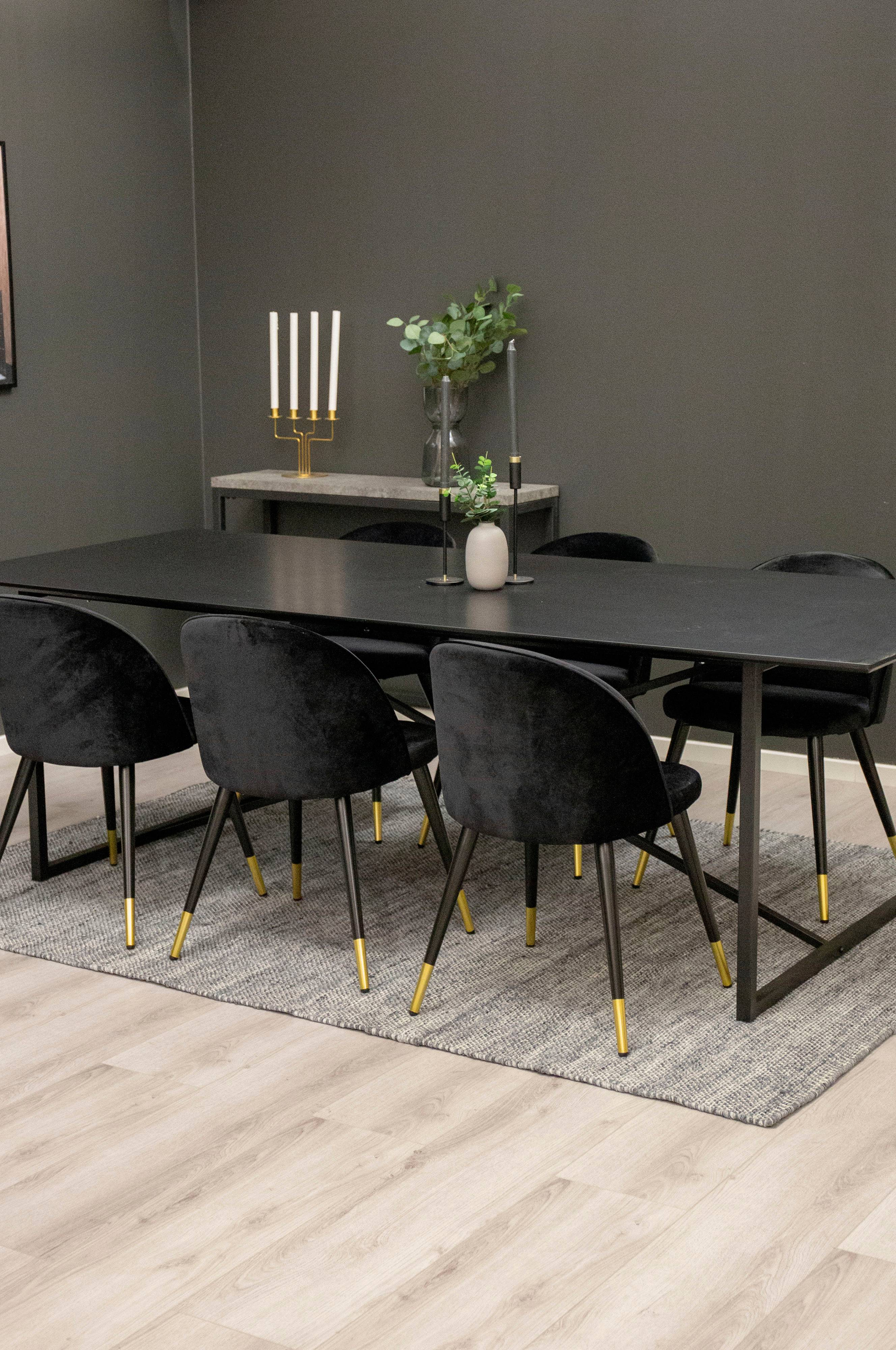 NORDFORM Spisegruppe Pinner bord og 6 stk Valletta stoler