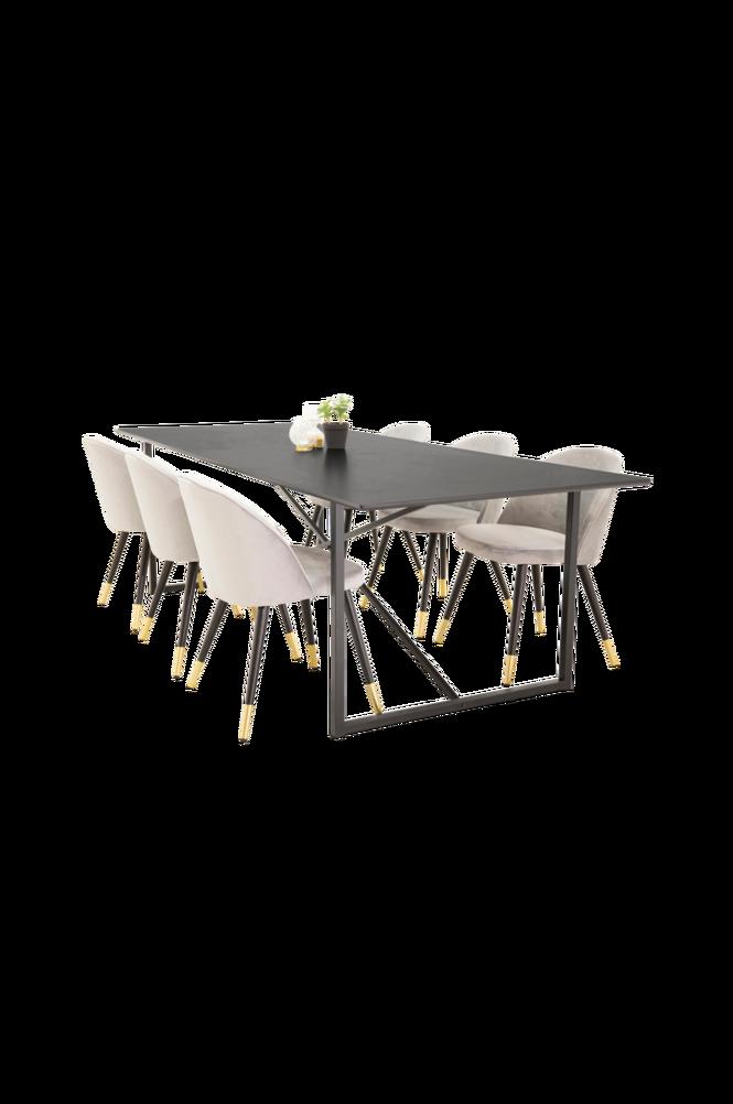 Matgrupp Pinner Bord och 6 st Valletta stolar