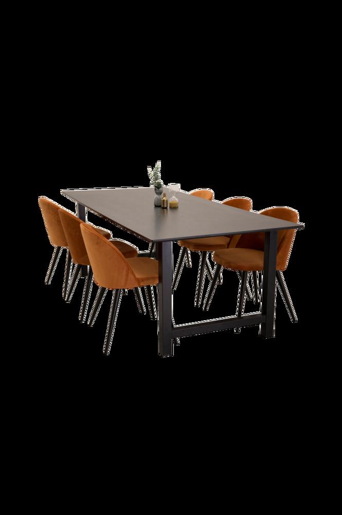 Matgrupp Canet Bord och 6 st Valletta stolar