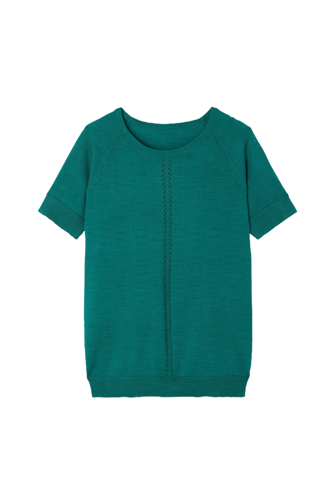 La Redoute Finstrikket trøje med kort ærme