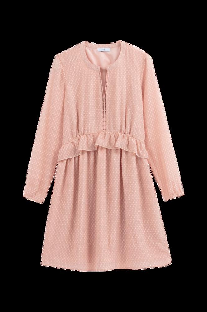 La Redoute A-formet, halvlang kjole med flæser