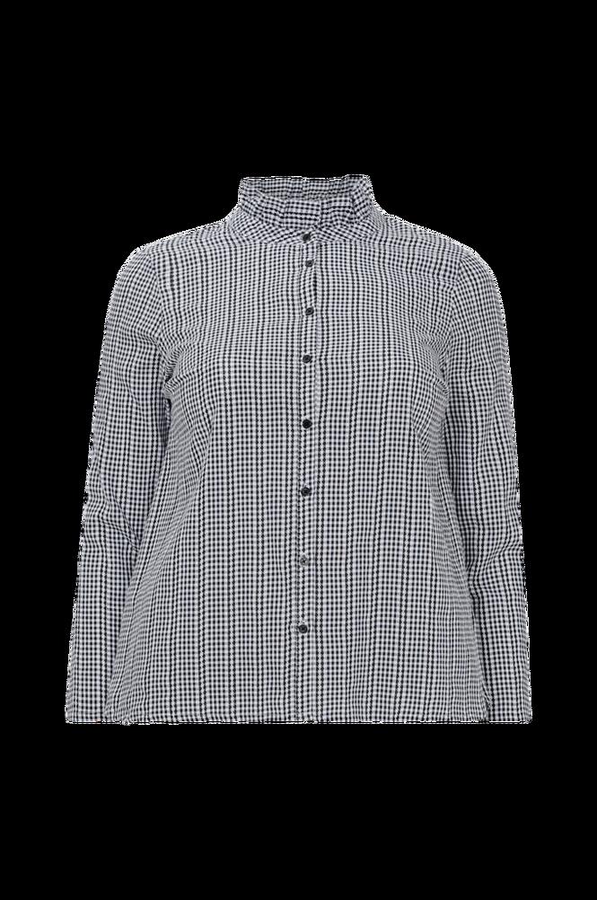 La Redoute Småternet skjorte med lille standkrave og langt ærme