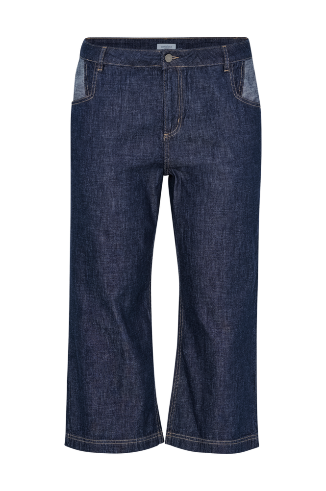 La Redoute Korte jeans i mørkeblå denim