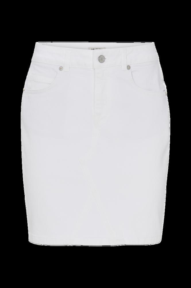 Selected Femme Denimnederdel slfMaya MW Denim Skirt White W