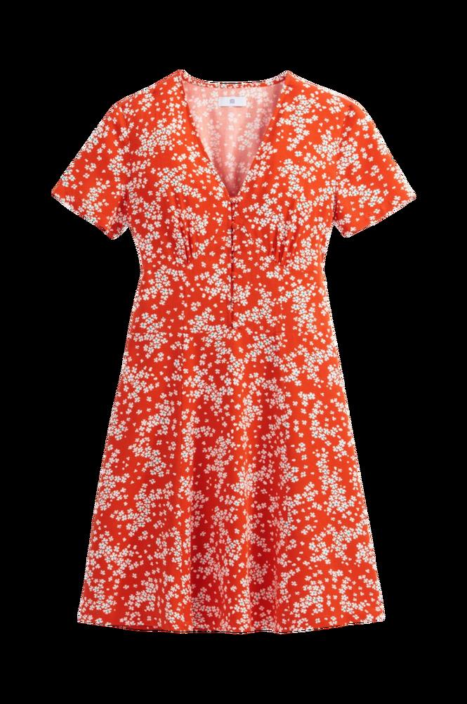 La Redoute A-formet, halvlang kjole med kort ærme