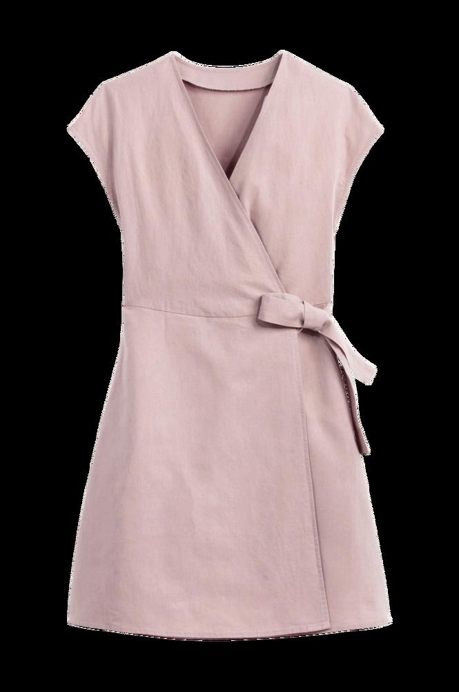 La Redoute Slå om-kjole med kort ærme