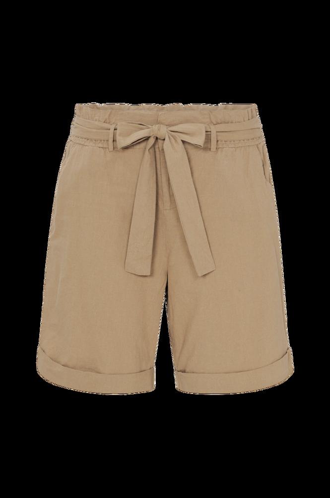 La Redoute Shorts i paper bag-snit i hør og bomuld