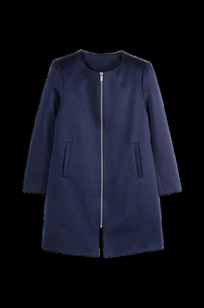La Redoute Frakke med rund halsudskæring og lynlås