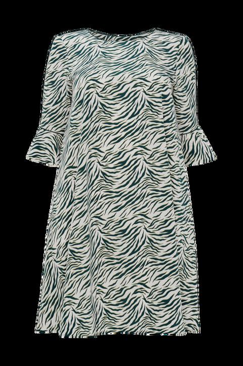Djurmönstrad klänning i halvlång, utställd modell – La Redoute