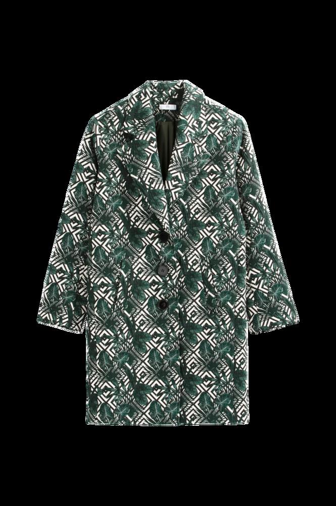 La Redoute Jacquardmønstret frakke i halvlang model