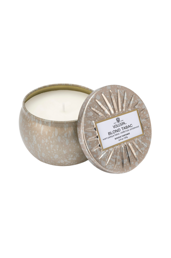 Blond Tabac - Decorative Tin Candle 25 h 127 g