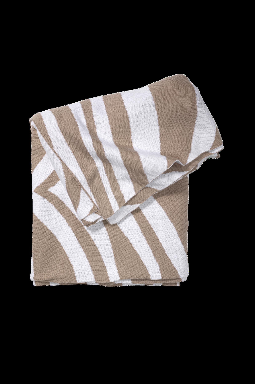 Classic Collection - Pläd Zebra - Natur
