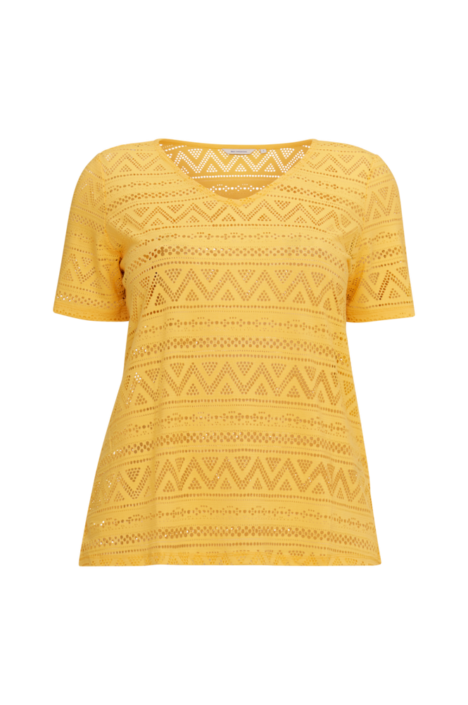 Only Carmakoma Top carGreen S/S Top V-neck