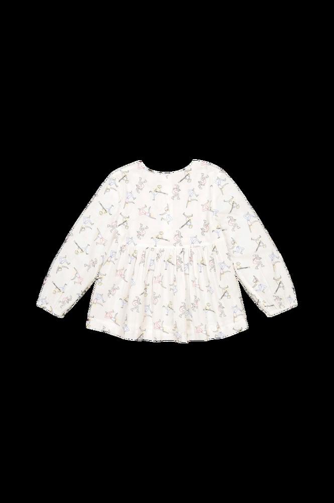 La Redoute Mønstret bluse med langt ærme