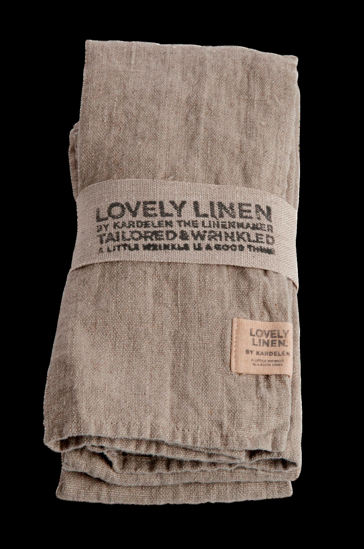 Lovely Linen - Servett Lovely 4-pack - Natur