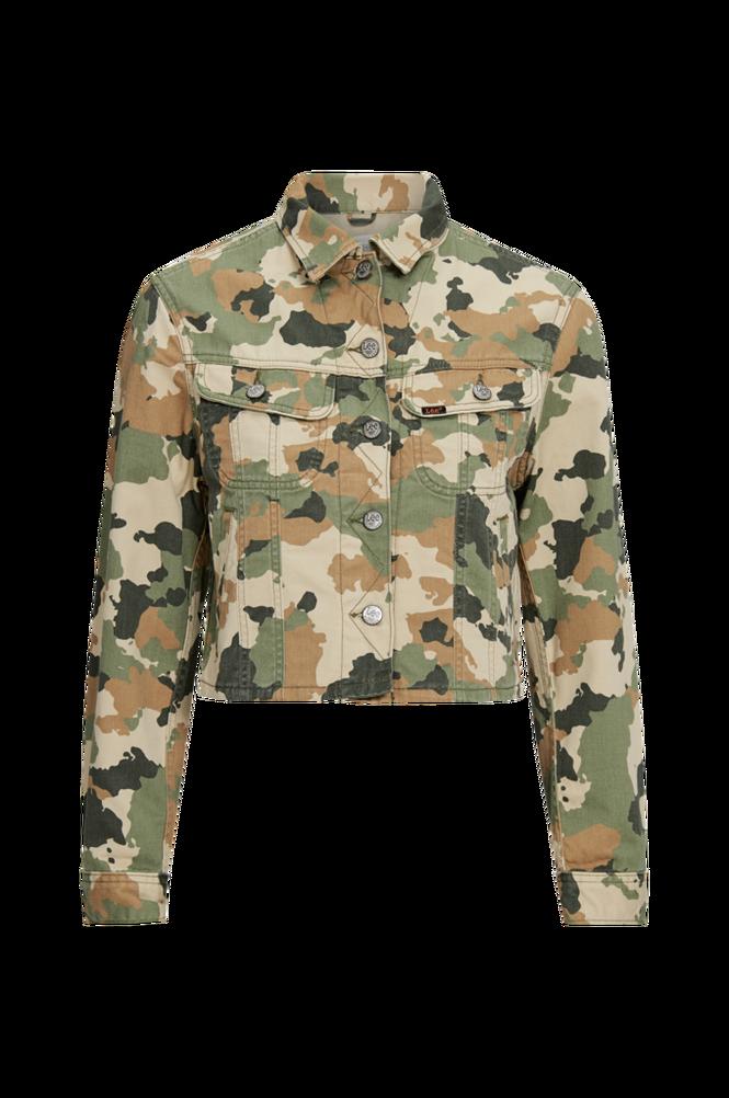 Lee Jakke Cropped Rider Jacket Camouflage