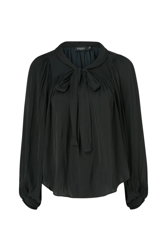 Soaked in Luxury Bindebåndsbluse Evelyn Blouse LS