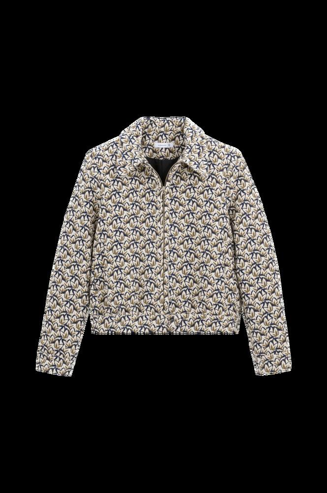La Redoute Kort, jacquardmønstret jakke med lynlås