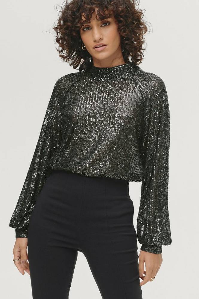 Soaked in Luxury Top Nicole Blouse LS