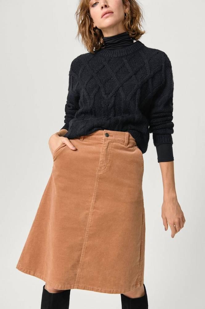 Saint Tropez Nederdel i finriflet fløjl